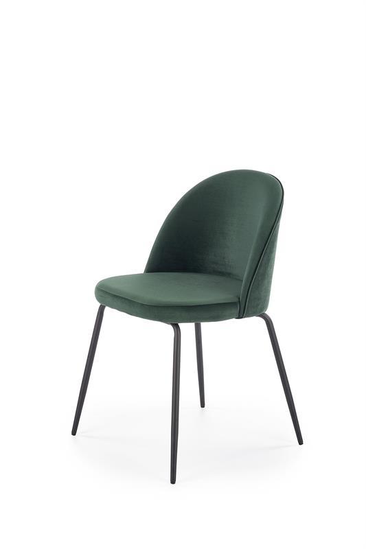 K314 jedálenská stolička, tmavo zelená