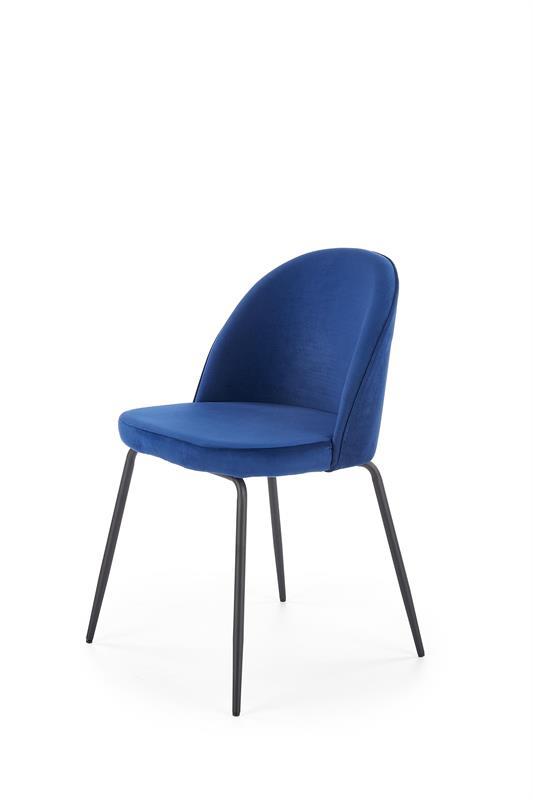 K314 jedálenská stolička, tmavo modrá