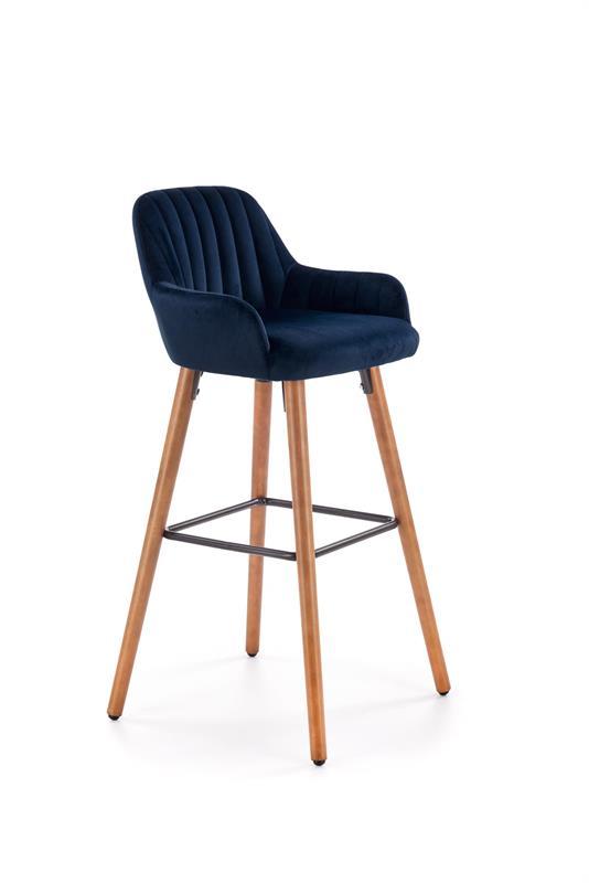 H93 barová stolička, tmavo modrá