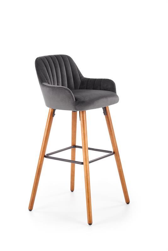 H93 barová stolička, tmavo šedá