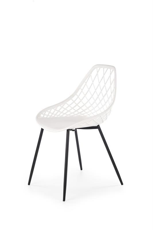 K330 jedálenská stolička, biela