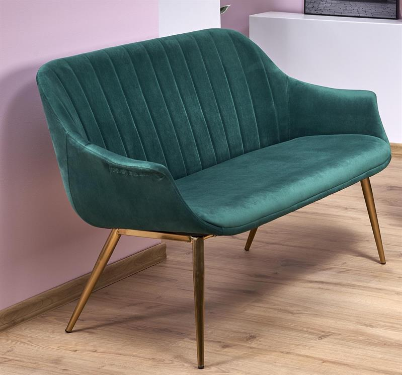 ELEGANCE 2 XL sedačka, čalúnenie - tmavo zelená, nohy - złote