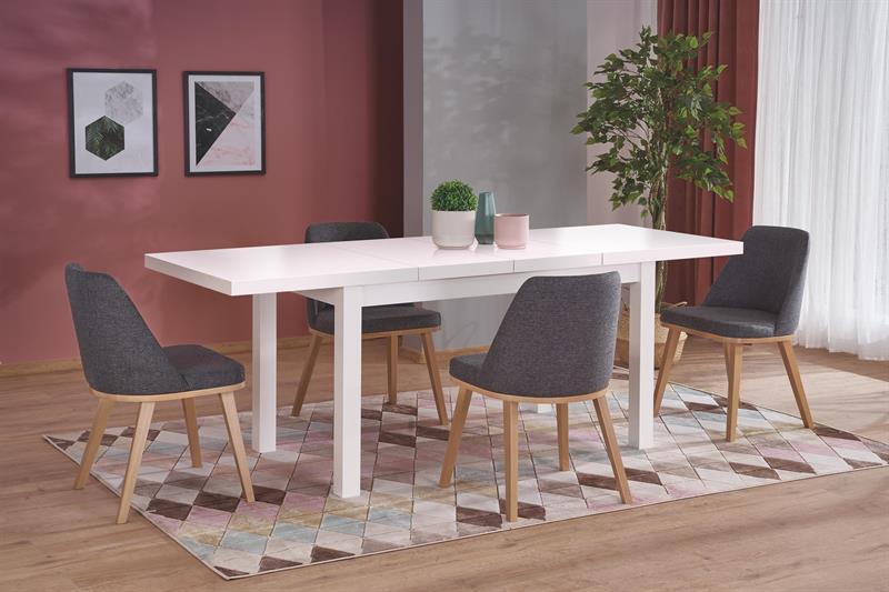 TIAGO 2 rozkladací stôl biela / biela