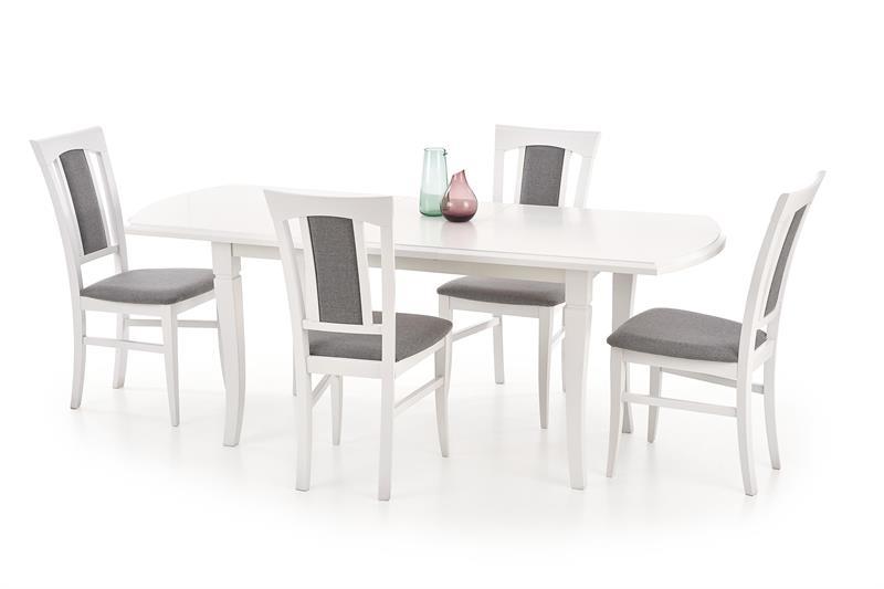 FRYDERYK 160/200 cm rozkladací stôl biela