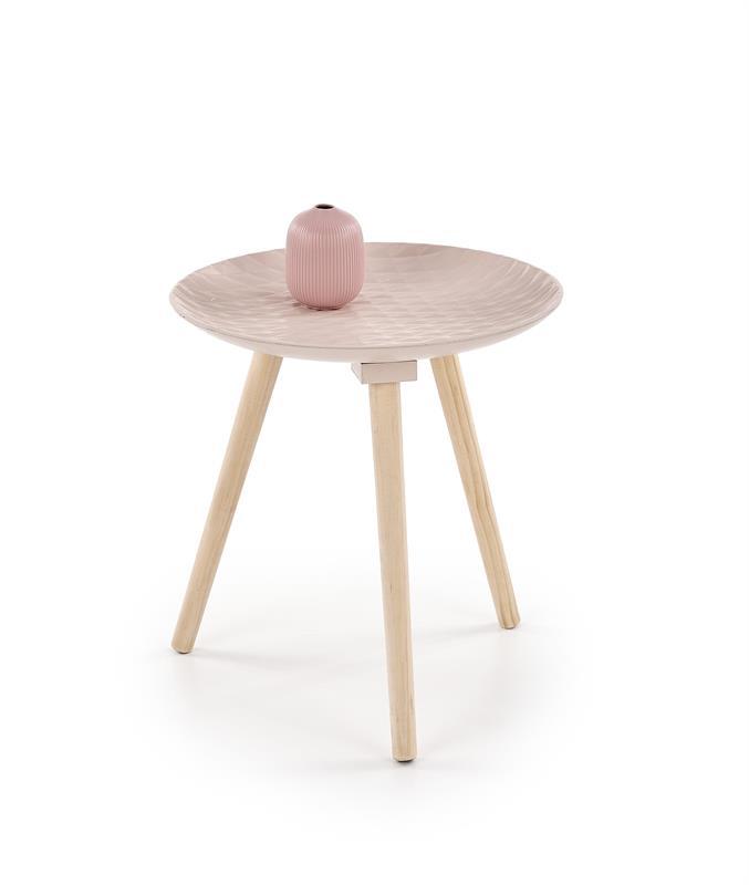 BINGO konferenčný stolík svetlo ružová