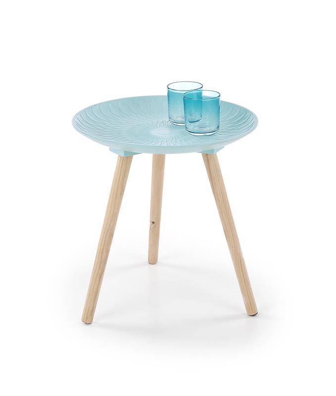 BINGO konferenčný stolík svetlo modrá