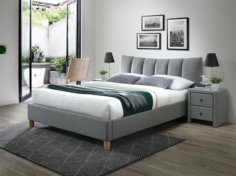 SANDY 2 posteľ šedá