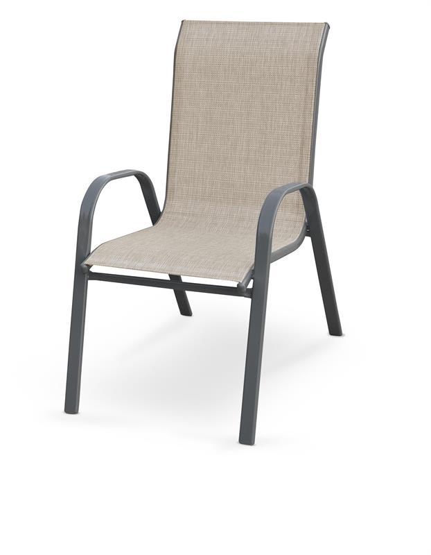 MOSLER záhradná stolička, šedá