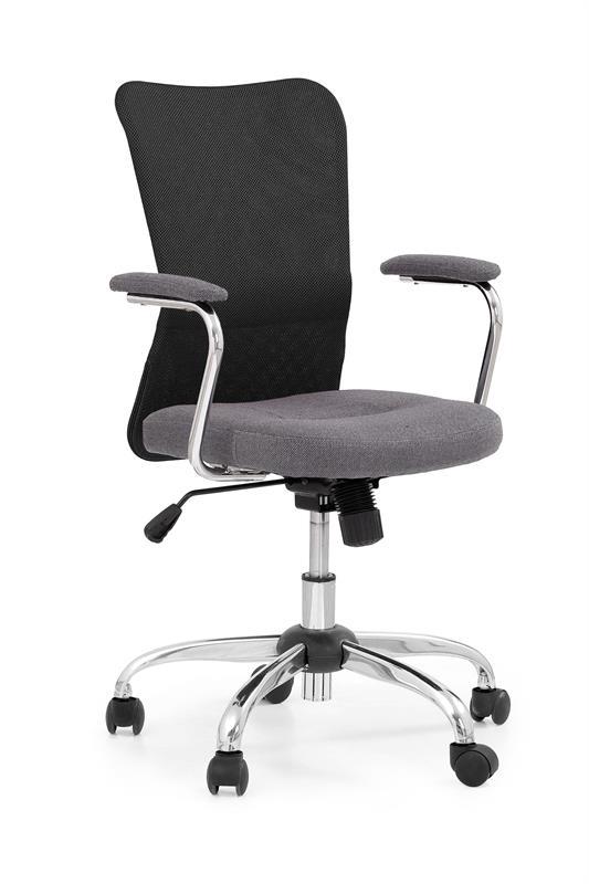 ANDY kancelárska stolička šedá/čierna
