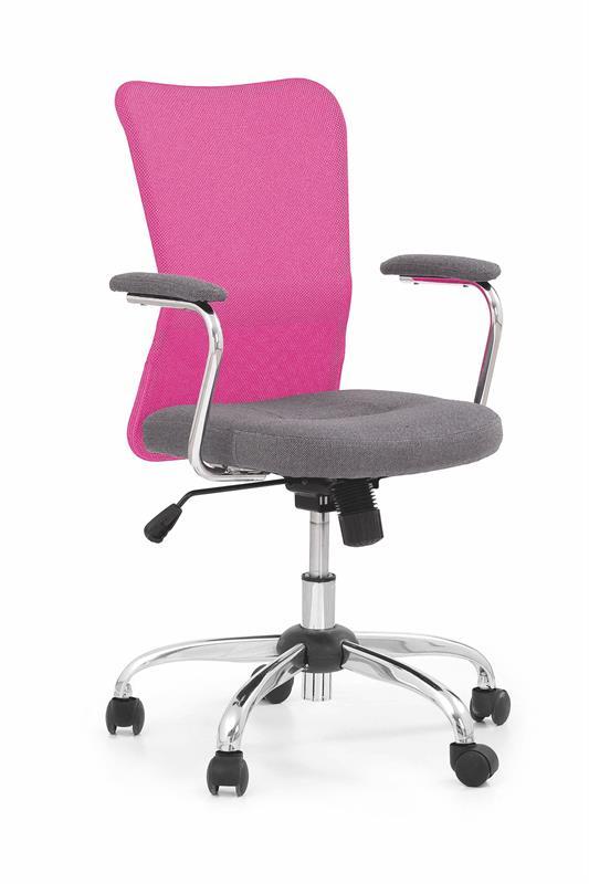 ANDY kancelárska stolička šedá/ružová