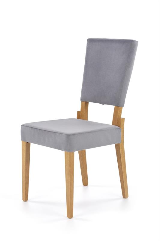 SORBUS jedálenská stolička, medový dub / šedá
