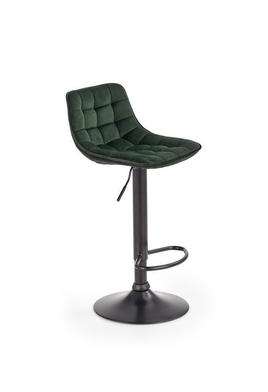 H95 barová stolička tmavo zelená