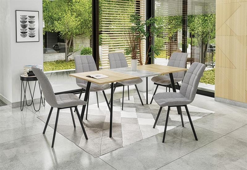 ALBON rozkladací stôl dub sonoma / šedá
