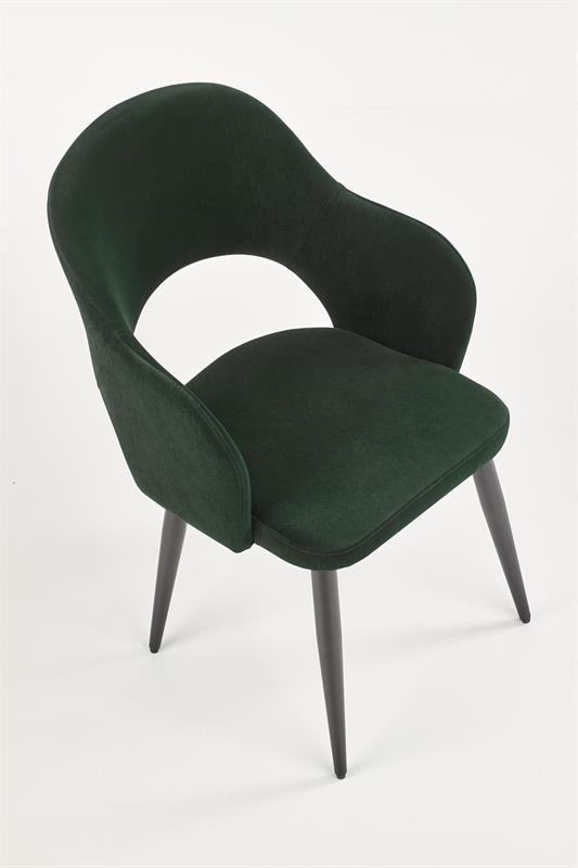 K364 jedálenská stolička tmavo zelená