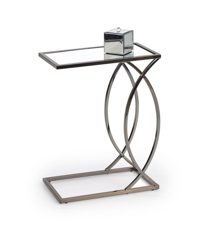 PARMA konferenčný stolík čierna nikel / zrkadlo