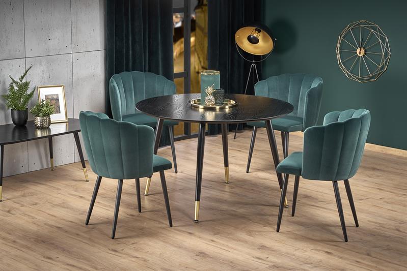 EMBOS stôl čierna / zlatá