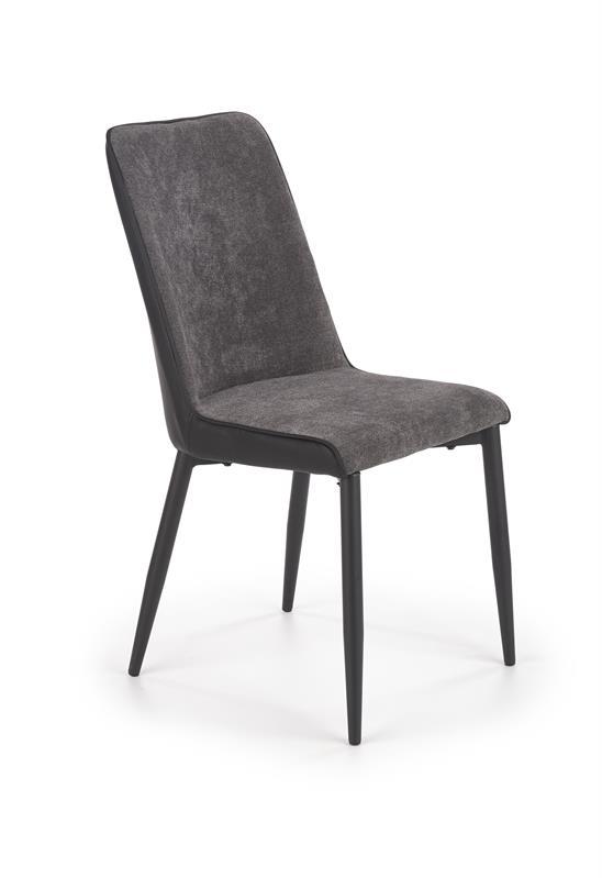 K368 jedálenská stolička šedá / čierna