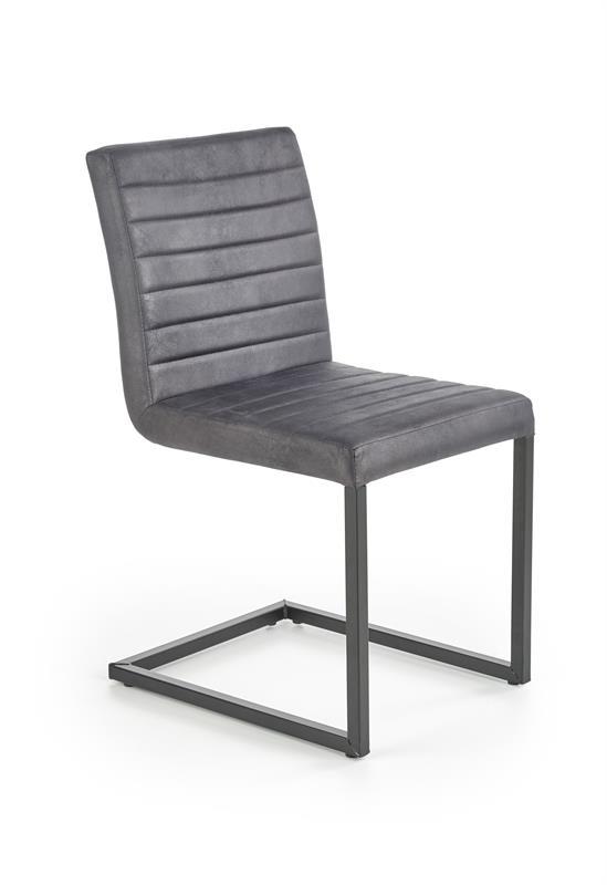 K376 jedálenská stolička tmavo šedá