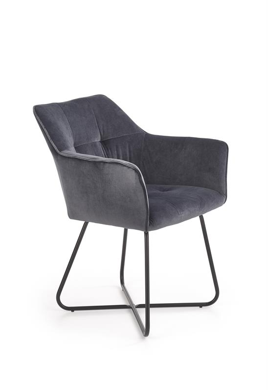 K377 jedálenská stolička šedá