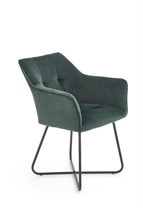 K377 jedálenská stolička tmavo zelená