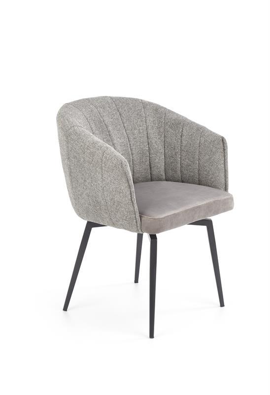 K378 jedálenská stolička šedá