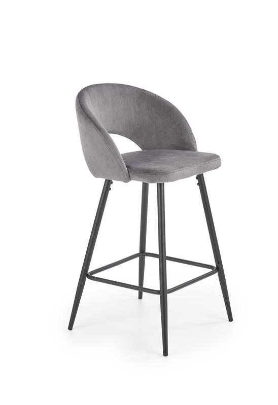 H96 barová stolička šedá