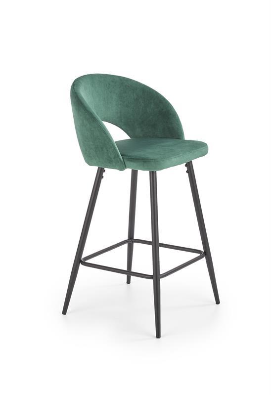 H96 barová stolička tmavo zelená