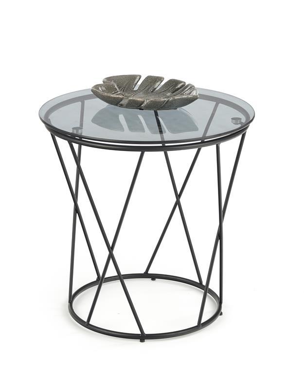 MANILA konferenčný stolík čierna / dymová