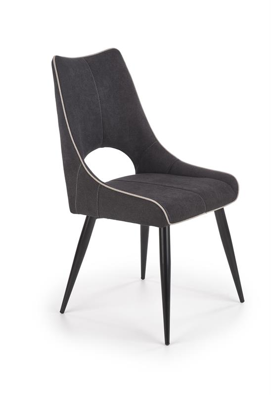 K369 jedálenská stolička tmavo šedá