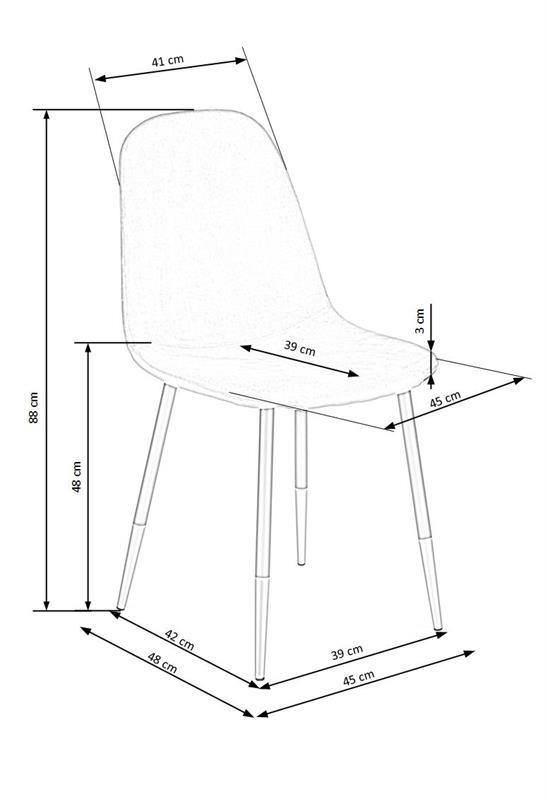 K379 jedálenská stolička šedá