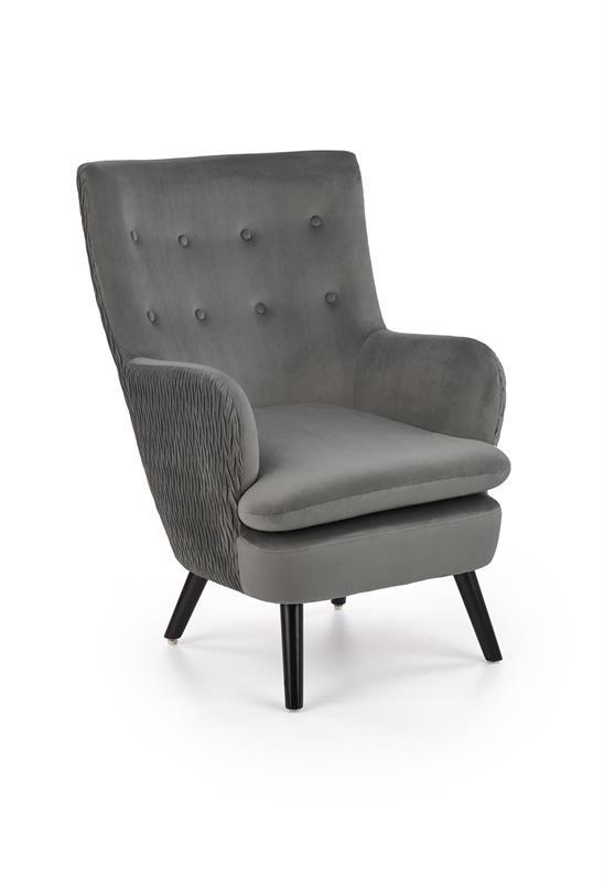RAVEL relaxačné kreslo šedá / čierna