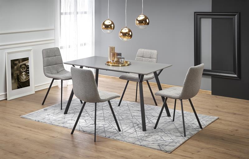 BALROG stôl, konštrukcia - čierna, doska - svetlo šedá