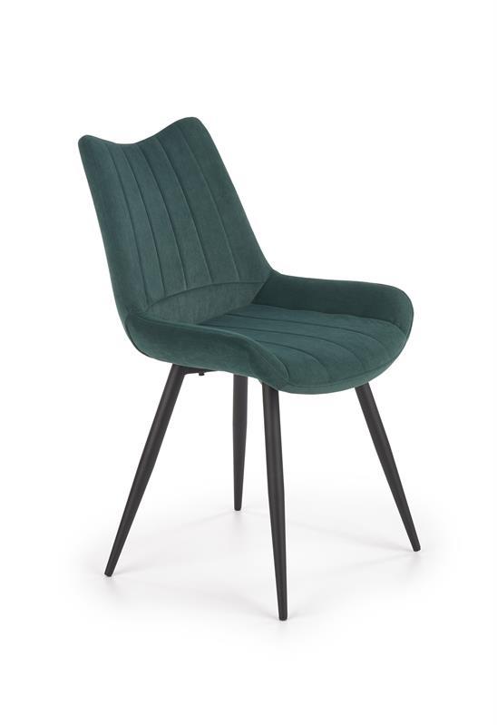 K388 stolička tmavo zelená