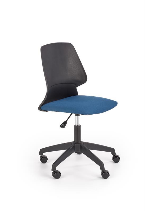 GRAVITY detská stolička čierna / modrá