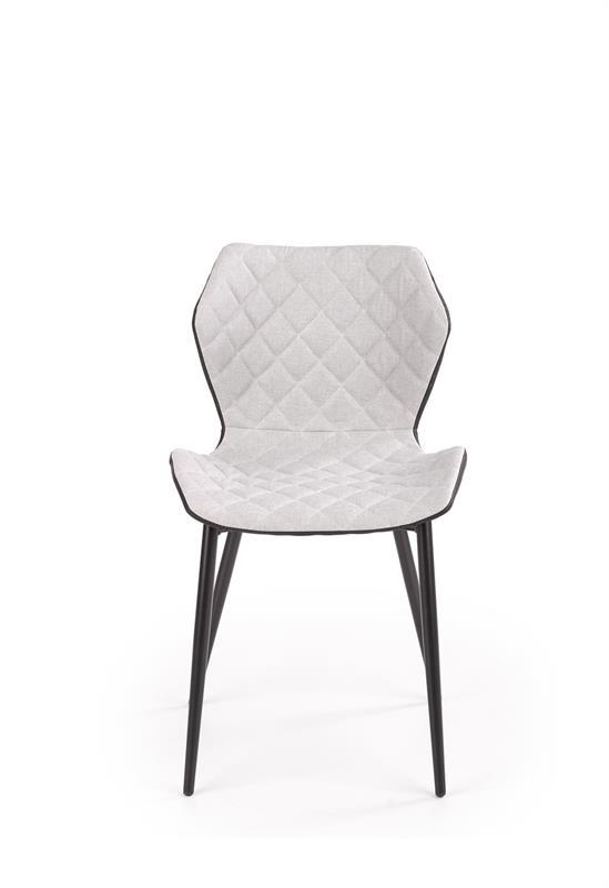 K389 jedálenská stolička čierna / šedá