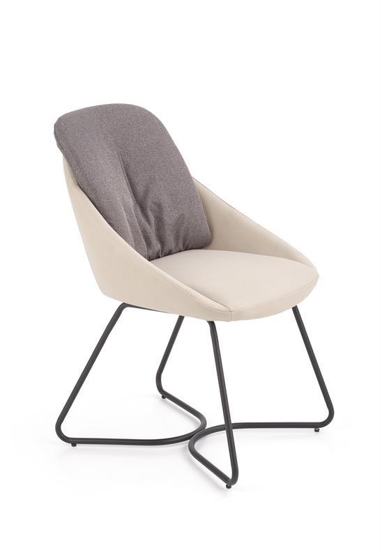 K391 jedálenská stolička tmavo šedá / svetlošedá