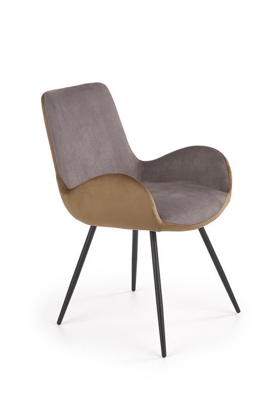 K392 jedálenská stolička šedá / hnedá