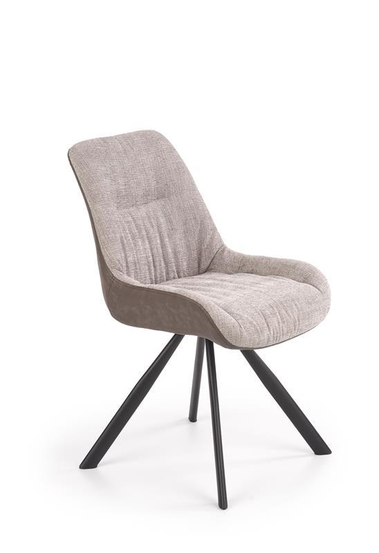 K393 jedálenská stolička svetlo šedá / hnedá