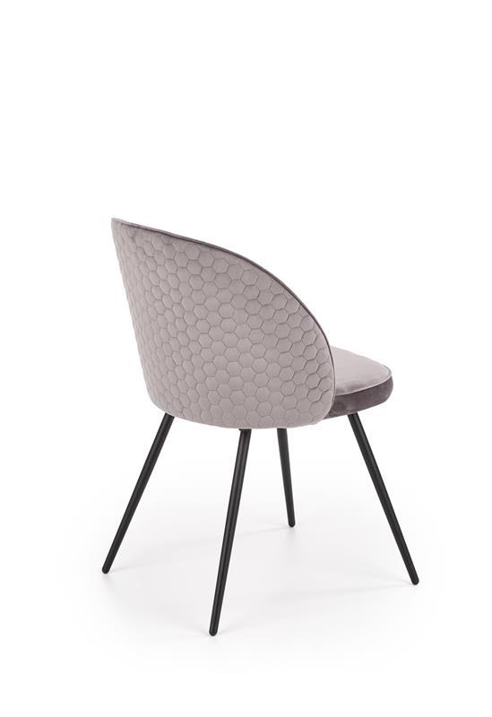 K395 jedálenská stolička šedá