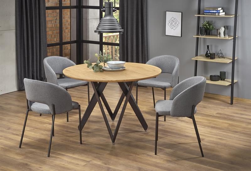 MOZAMBIK stôl, doska - dab zlatá, konštrukcia - čierna