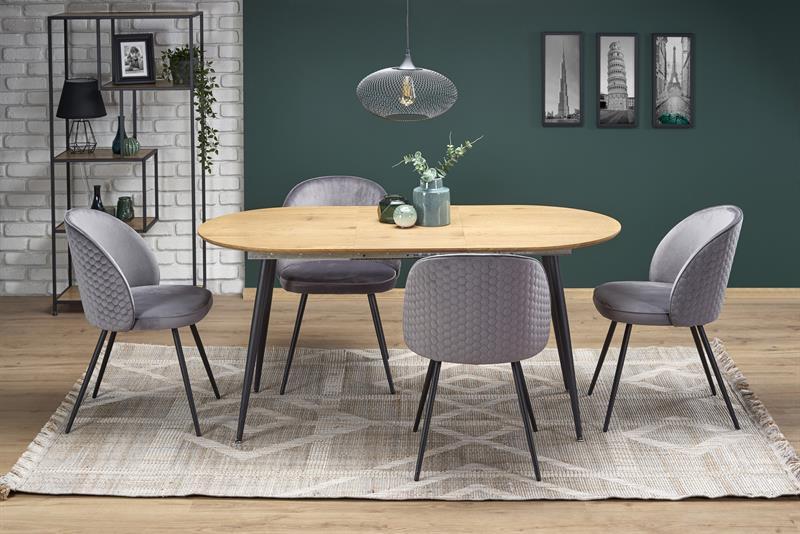 COLORADO rozkladací stôl, doska - dab zlatá, konštrukcia - čierna