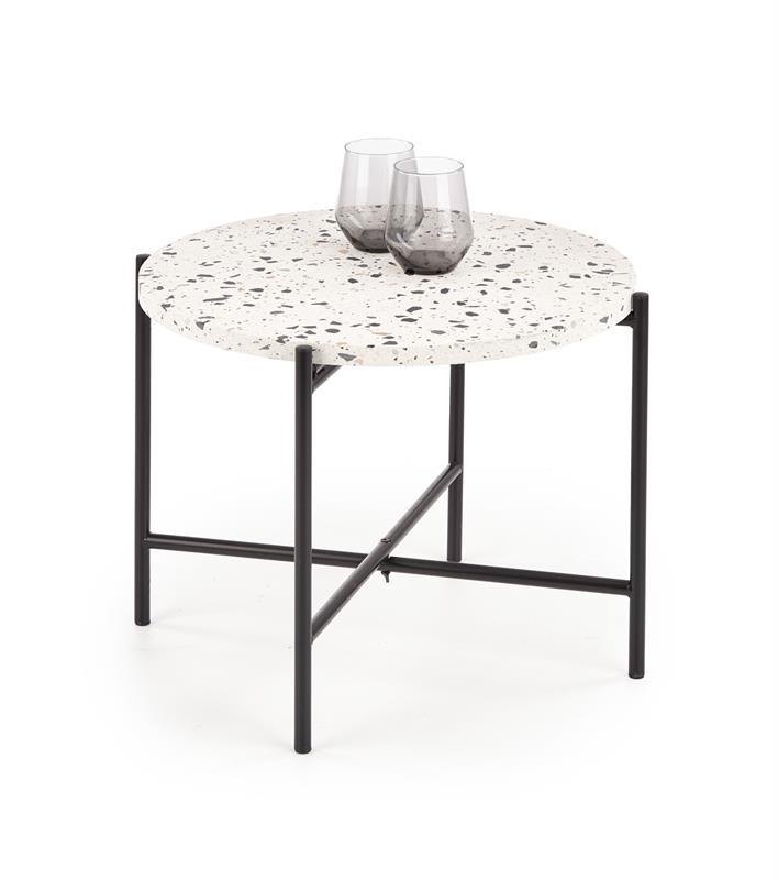 LASTRICO konferenčný stolík biela / čierna