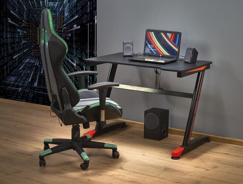 B40 PC stôl čierna / červená
