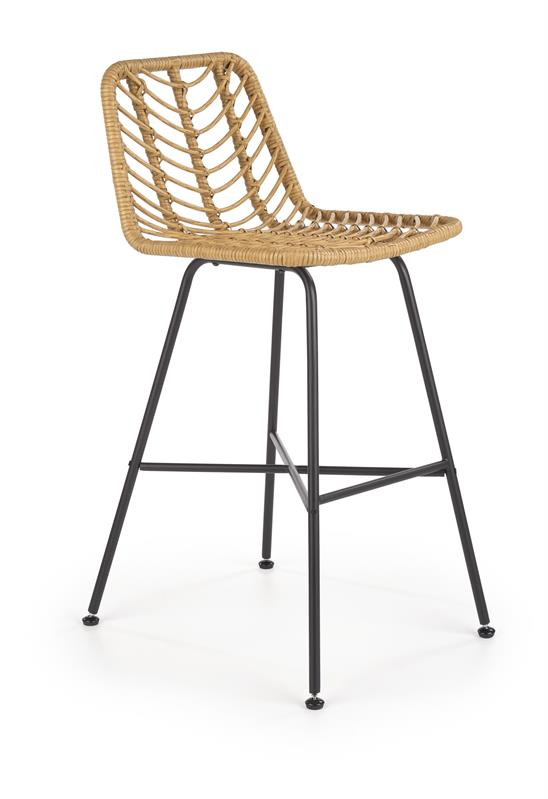 H97 barová stolička čierna / prírodná