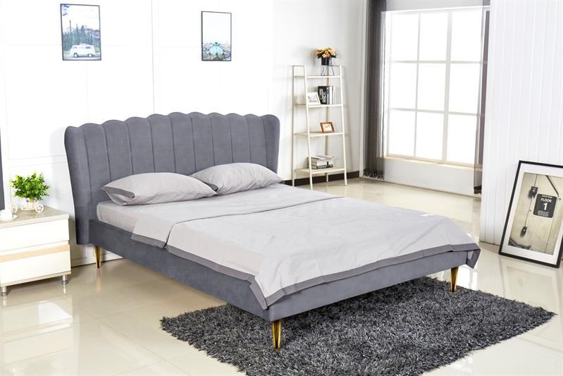 VALVERDE posteľ šedá / zlatá