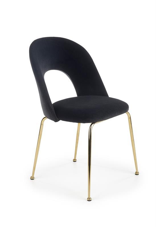 K385 jedálenská stolička čierna / zlatá