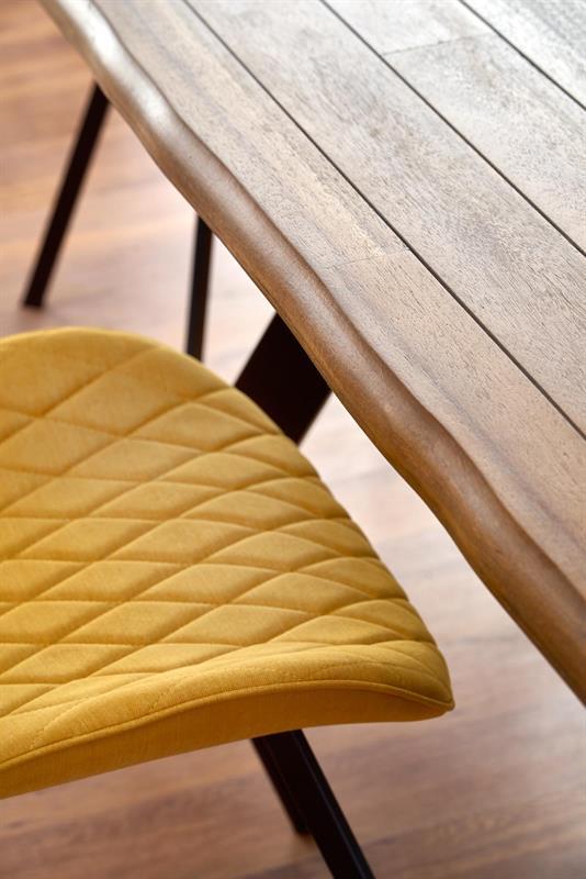 ESPOSITO stôl, doska - prírodná, nohy - čierna