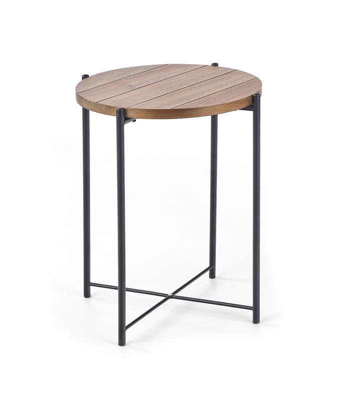 TANAKA S konferenčný stôl svetlý orech / čierna