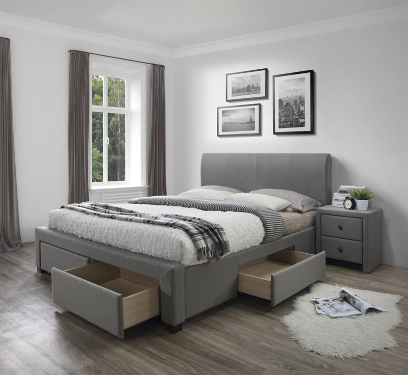 MODENA 180 posteľ so zásuvkami šedá