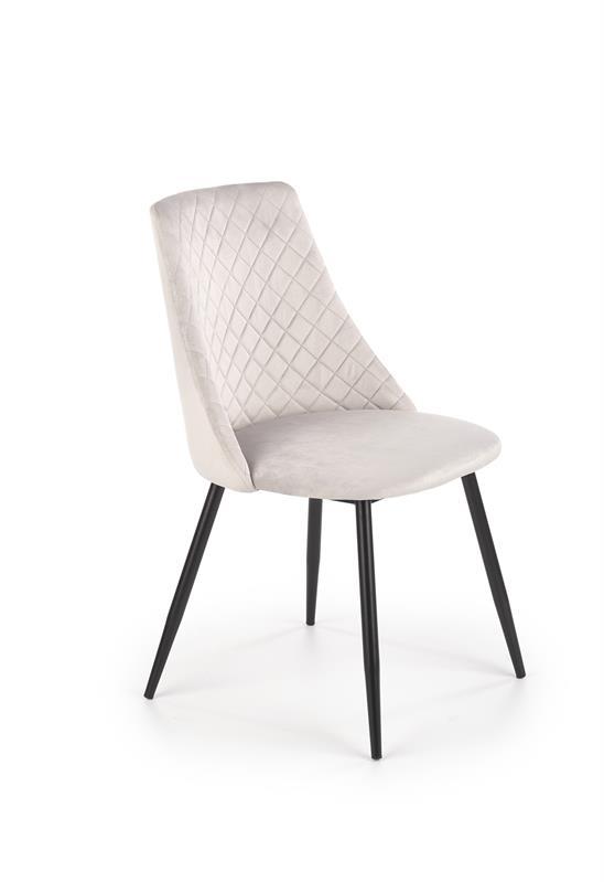 K405 jedálenská stolička šedá